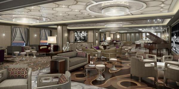 Take Five Jazz Lounge on Sky Princess (Photo: Princess Cruises)