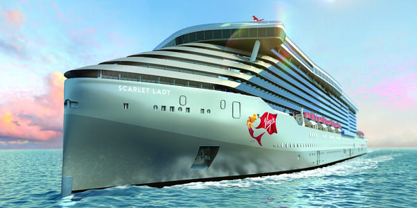 Artist rendering of Scarlet Lady (Image: Virgin Voyages)