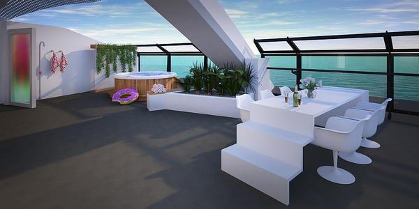 Scarlet Lady's Balcony (Photo: Virgin Voyages)