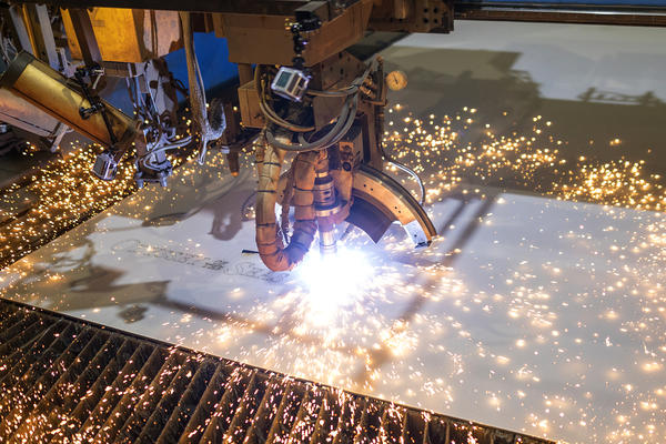 Steel-cutting for Odyssey of the Seas (Photo: Royal Caribbean)