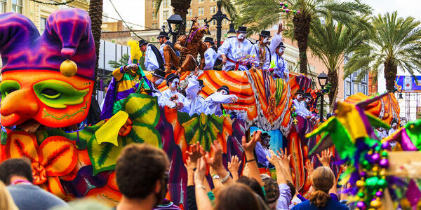 Mardi Gras Parade, New Orleans (Photo: GTS Productions/Shutterstock)