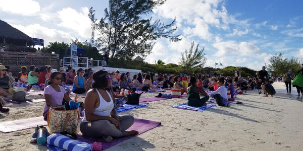 Just Breathe meditation and yoga sessions on the Oprah Girls' Getaway sailing (Photo: Colleen McDaniel)
