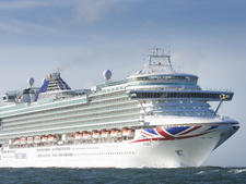 Azura, one of the largest cruise ship in the P&O Cruises fleet.