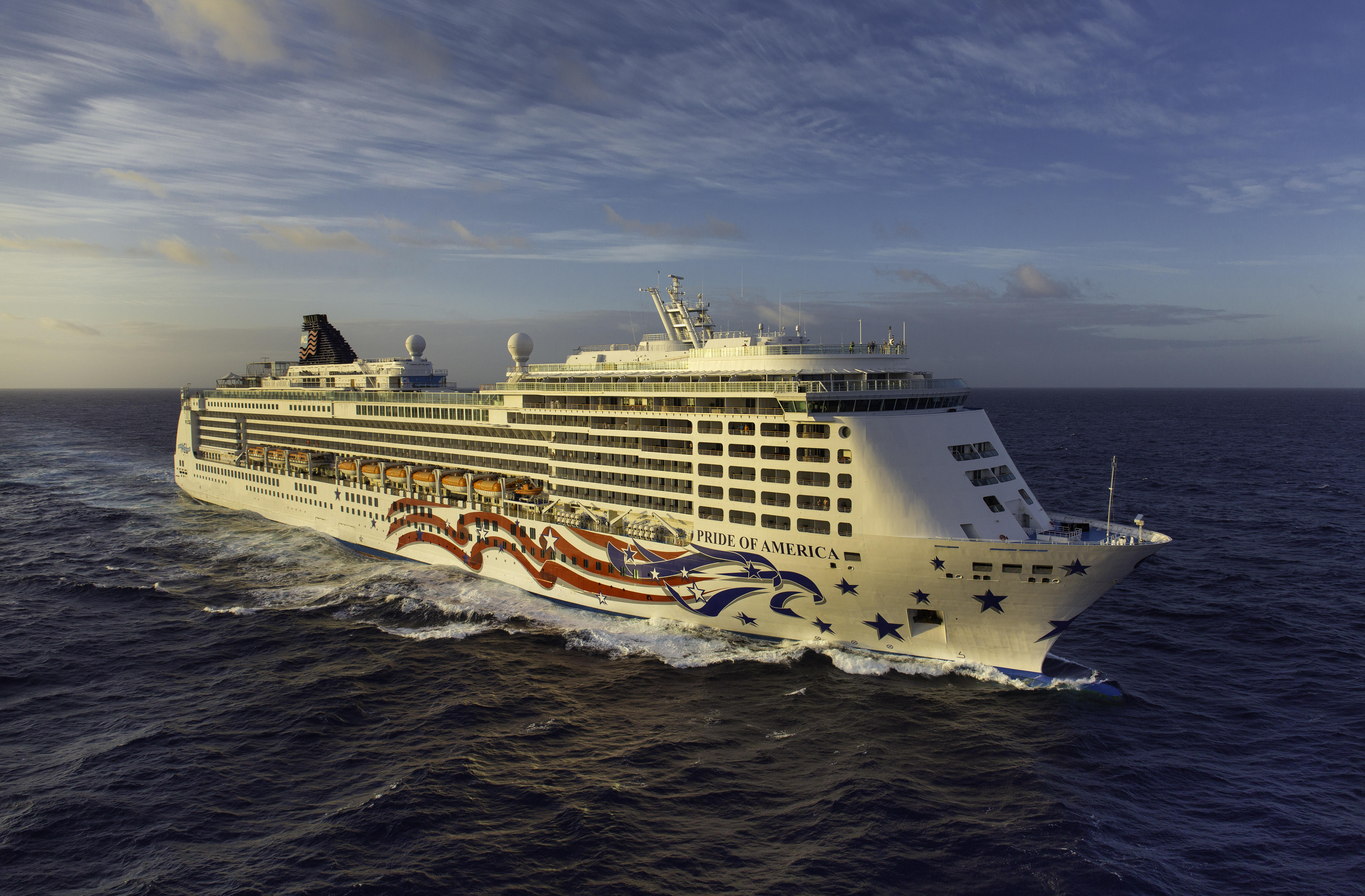 Norwegian NCL Pride Of America Cruise Ship Reviews UPDATED - Cruise ship in rough waters