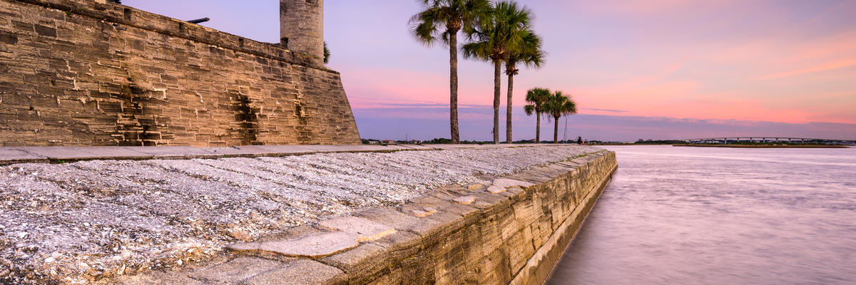Old St. Augustine at sunset