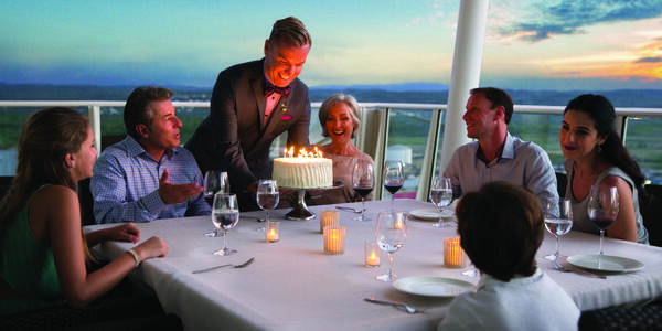 Family celebrating a birthday on a Royal Caribbean ship (Photo: Royal Caribbean International)