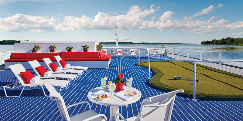 The Sun Deck on American Constellation (Photo: American Cruise Lines)