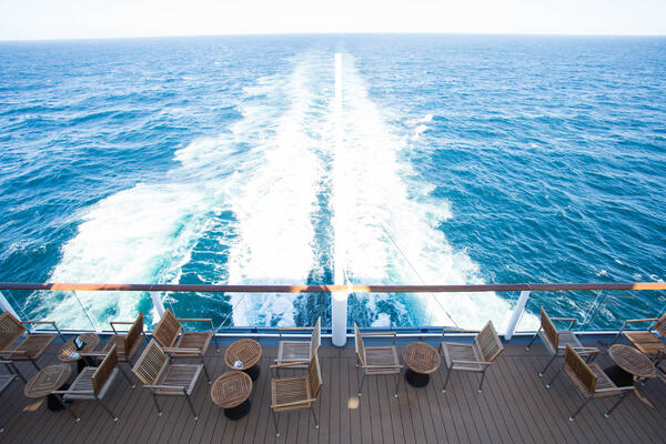 View of the wake on Celebrity Solstice (Photo: Cruise Critic)