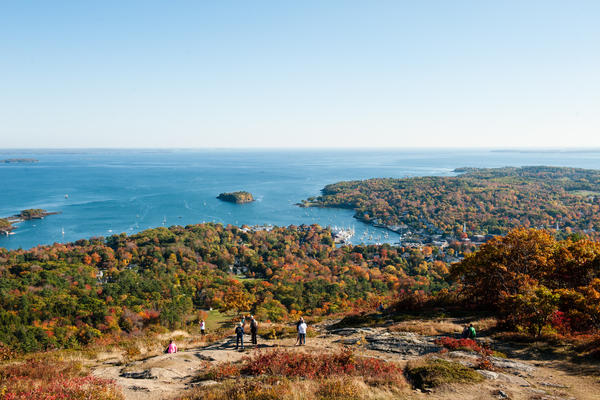 View of Camden, Maine harbor from the summit of Mount Battie, Camden Hills State Park (Photo: E.J.Johnson Photography)