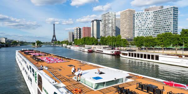 The sun deck on Uniworld's Joie de Vivre (Photo: Cruise Critic)