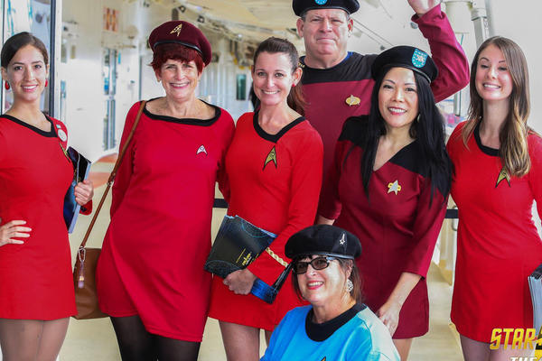 Cosplayers on the Star Trek Cruise (Photo: startrekthecruise.com)