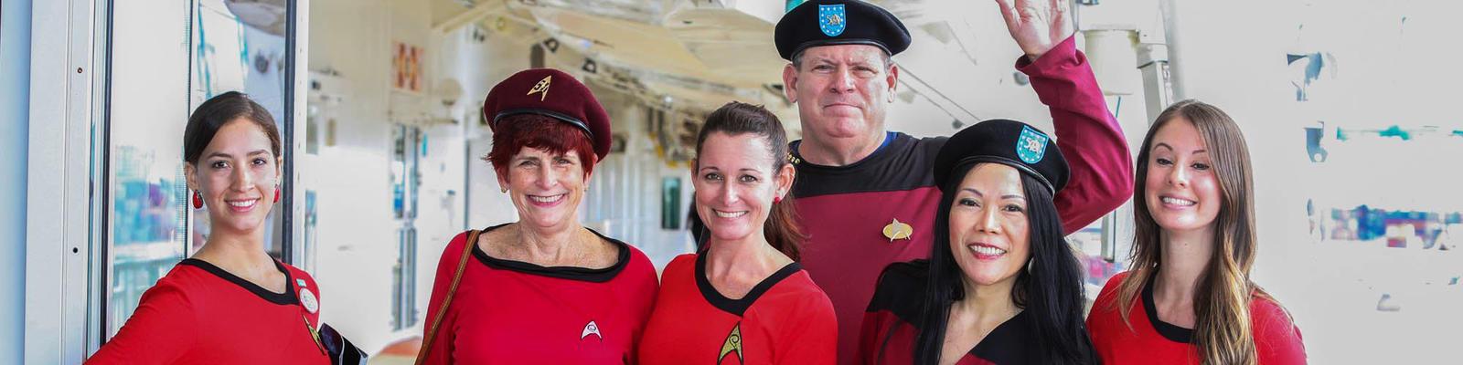 Cosplayers on the Star Trek Cruise (Photo: startrekthecruise.com)