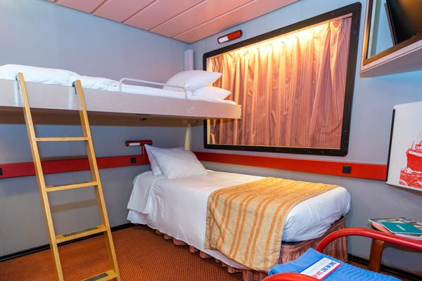 The Interior Cabin (Upper-Lower) on Carnival Paradise (Photo: Cruise Critic)