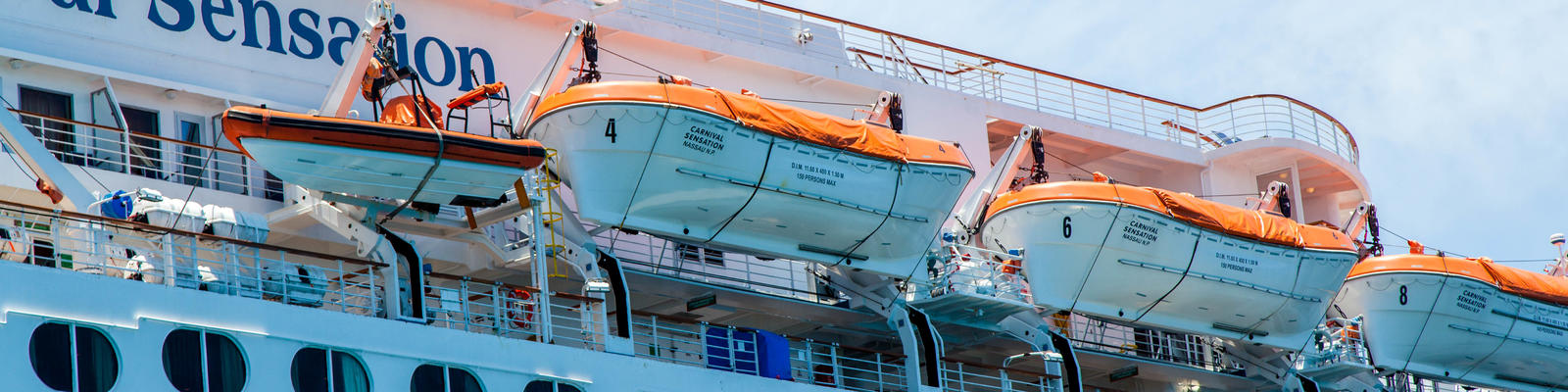 Lifeboats on Carnival Sensation (Photo: Cruise Critic)