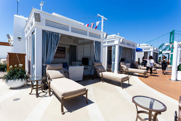 Cabana at The Sanctuary on Island Princess (Photo: Cruise Critic)