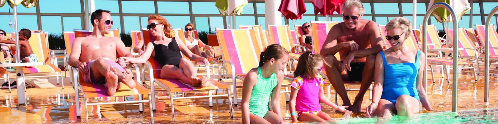 Mulitgenerational family on Allure of the Seas (Photo: Royal Caribbean)