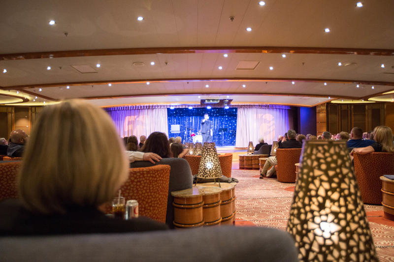 Comedy Magic Show in the Vista Lounge on Regal Princess