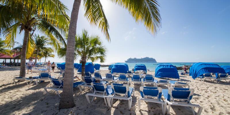 Beach at Princess Cays Port