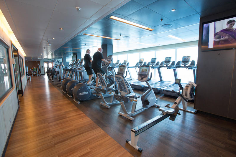 Fitness Center on Regal Princess