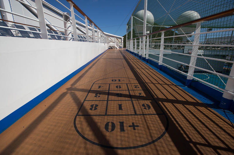 Shuffleboard on Regal Princess