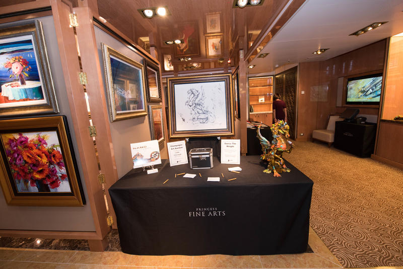 Princess Art Gallery on Regal Princess