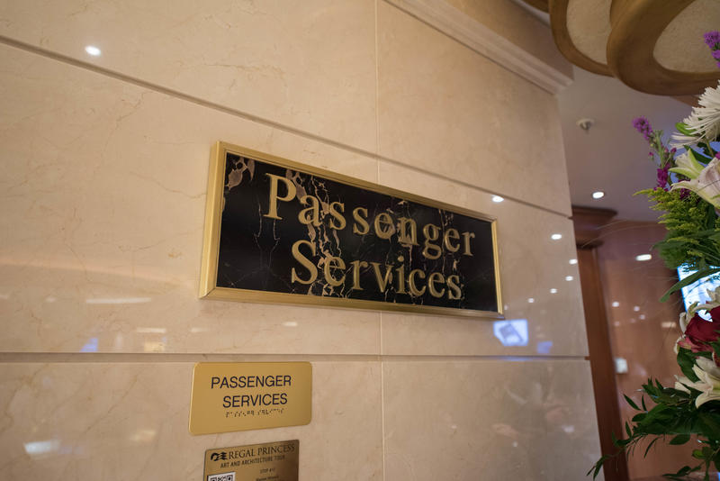 Passenger Services on Regal Princess