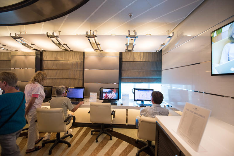 Internet Cafe on Regal Princess