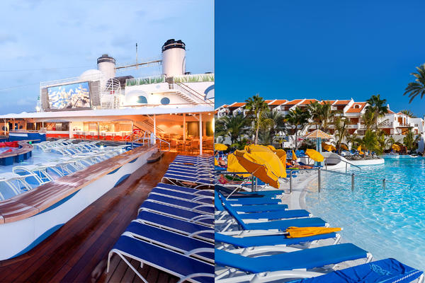 Cruise Versus All Inclusive Resort: Which Is the Better Deal?  (Photos: Holland America Line; Tatiana Popova/Shutterstock)