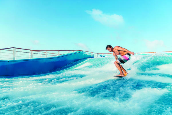 Symphony of the Seas will feature Royal Caribbean's signature thrills such as the FlowRider (Photo: Royal Caribbean)
