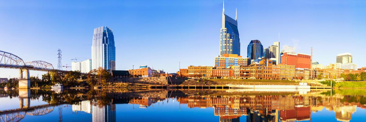 Nashville Skyline along the Cumberland River, Nashville, Tennessee, USA (Photo: OFFFSTOCK/Shutterstock)