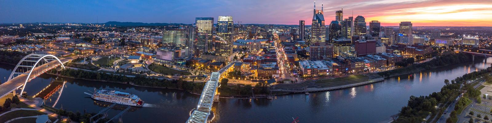 Nashville Skyline along the Cumberland River, Nashville, Tennessee, USA (Photo: Jrossphoto/Shutterstock)