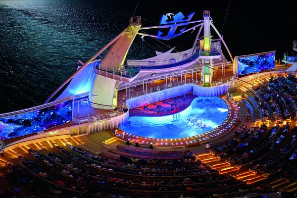 The AquaTheater on Royal Caribbean's Allure of the Seas (Photo: Royal Caribbean International)