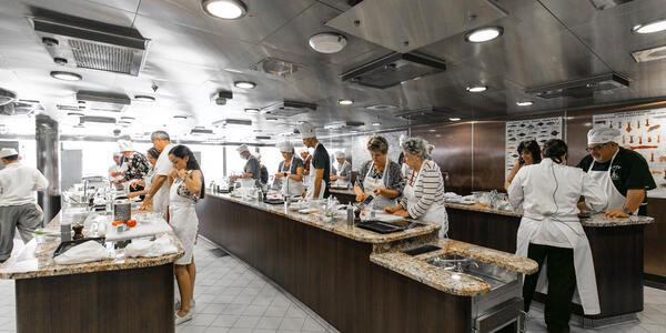 Culinary Center on Oceania's Riviera (Photo: Cruise Critic)