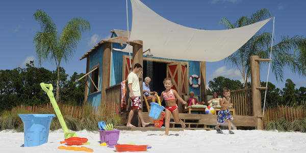 Private cabana on Castaway Cay, Disney's private island (Photo: Kent Phillips/Disney Cruise Line)