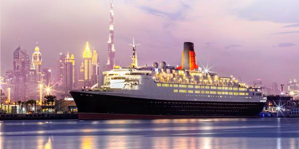 Queen Elizabeth 2 in Dubai (Photo: Cunard)