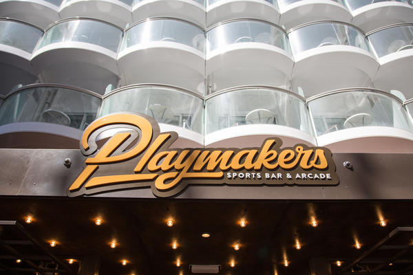 Playmakers Sports Bar on Royal Caribbean's Symphony of the Seas (Photo: Royal Caribbean)