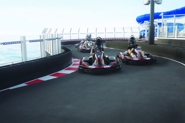 Go-Kart Track on Norwegian Bliss (Photo: Norwegian Cruise Line)