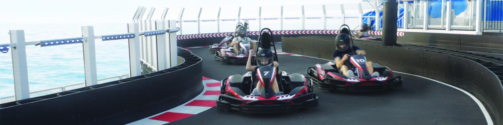 Go-Kart Track on Norwegian Bliss (Photo: Norwegian Cruise Line)