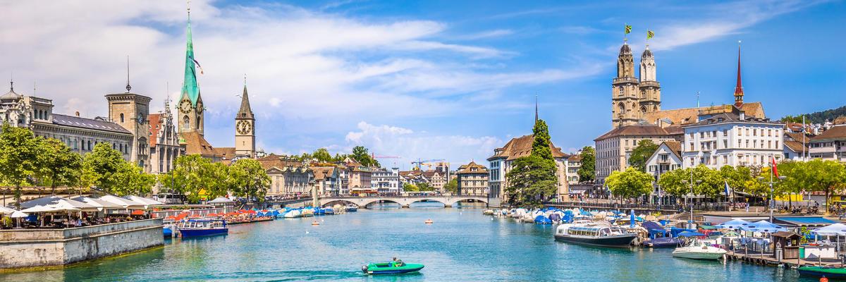 Historic City Center in Zurich, Switzerland (Photo: canadastock/Shutterstock)