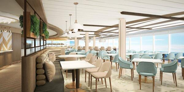 The new Oceanview Cafe after Celebrity's Revolution Program update (Image: Celebrity Cruises)