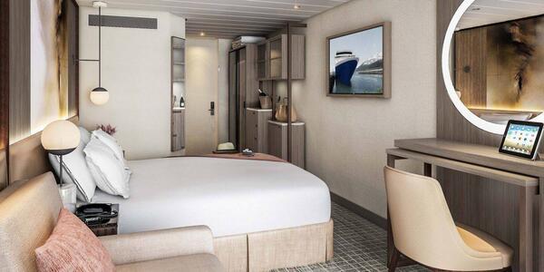 Standard cabin after Celebrity's Revolution Program update (Image: Celebrity Cruises)