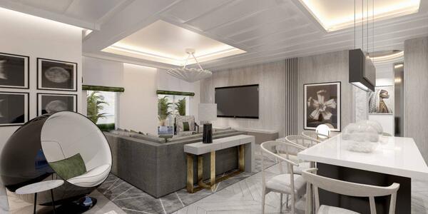 The Penthouse Suite after Celebrity's Revolution Program update (Image: Celebrity Cruises)