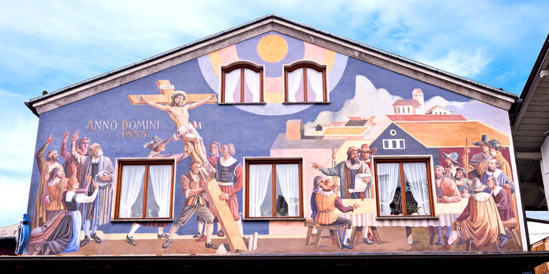 Decorated Passion Play Painted House in Oberammergau, Germany (Photo: Michael Warwick/Shutterstock)