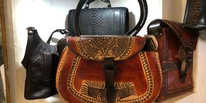 Leather handbag on display at a local shop (Photo: Adam Coulter)