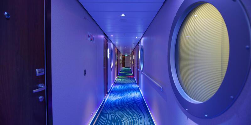 Hallways on Norwegian Getaway