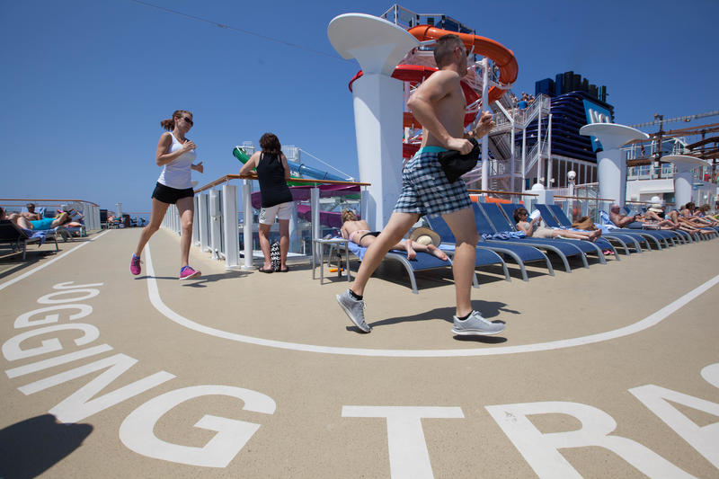 Outdoor Jogging Track on Norwegian Getaway