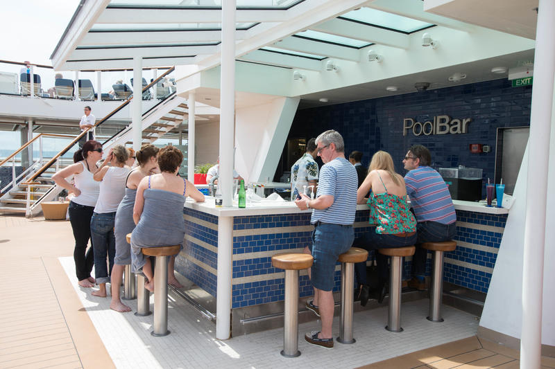 Pool Bars and Dining on Celebrity Eclipse
