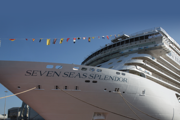 Seven Seas Splendor during its float-out ceremony (Photo: Regent Seven Seas Cruises)