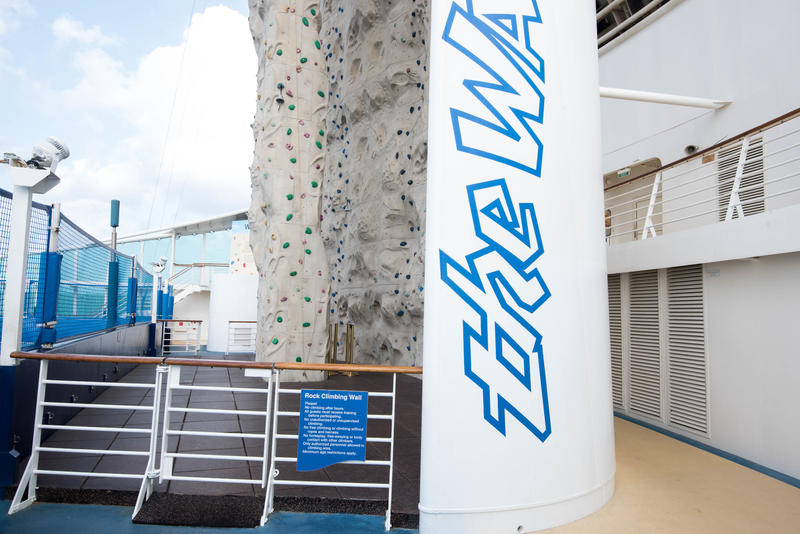 Rock Climbing Wall on Freedom of the Seas