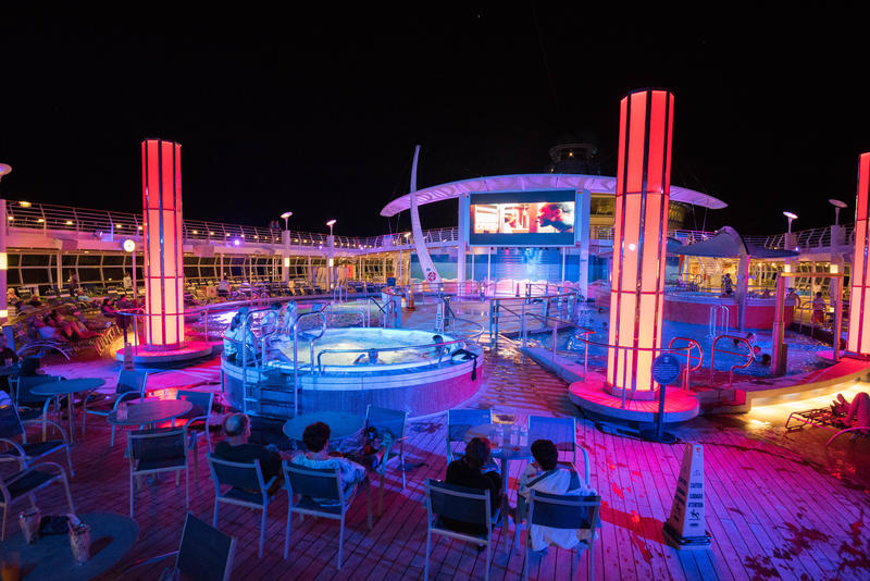 Outdoor Movie Screen on Freedom of the Seas